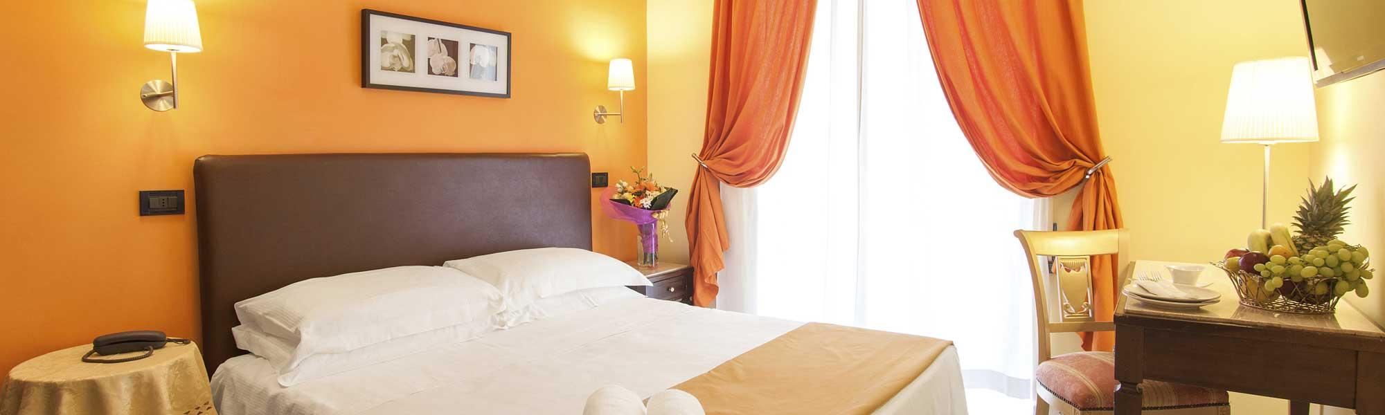 Matrimoniale.Standard Double Room High Quality Breakfast 3 Stars Hotel Rome Center